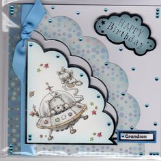Hunkydory Smudge and Mitten card made by Sue Elvin Happy Birthday Grandson, Hunky Dory, Little Books, Kids Cards, Smudging, Handmade Cards, Making Ideas, Mittens, Birthday Cards
