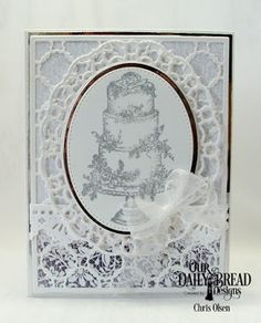 Our Daily Bread Designs Stamp Set: Long Lasting Love, Custom Dies: Mr & Mrs, Scalloped Chain, Ovals, Pierced Ovals, Bitty Borders, Layered Lacey Ovals, Beautiful Borders, Fun and Fancy Folds Card Kit - Book Fold, Paper Collection: Wedding Wishes