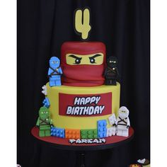 Ninjago Theme Birthday Cake! #allysweetcreations #ninjagoparty #ninjago #Lego #dessert #birthdays ...