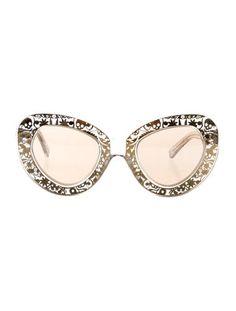 1764374fc50 Karen Walker Intergalactic Filigree Cat Eye Sunglasses Clear Sunglasses
