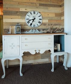 Antique Buffet with updated bone knob hardware, by Cotton Seed Designs for Carver Junk Company