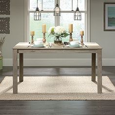 Dining Table - New Grange Add modern seat or two and you've made yourself a Modern Farmhouse dining solution!