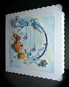 Card Gallery - Roses On Blue