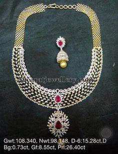 109 Grams Weight Diamond Necklaces   Jewellery Designs