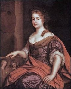 1632 Mary Beale (English portrait painter, 1632-1697) Self Portrait Holding a Painting of Her Sons c 1685