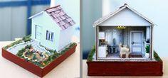 Casa miniatura, escala 1:144♡ ♡