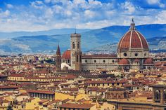size: Photographic Print: Florence, Italy - View of the City and Cathedral Santa Maria Del Fiore by Gorilla : Italy Tourist Attractions, Tourist Places, Vacation Places, Italy Vacation, Best Places In Italy, Places To Visit, The David Statue, Volunteers Around The World, Barcelona