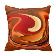 Funky Abstract Burnt Orange Red Throw Pillow is part of Red Home Accessories Orange Funky Abstract Burnt Orange Red Swirl Throw Pillow perfect for autumn fall home decor - Funky Home Decor, Fall Home Decor, Orange Throw Pillows, Decorative Throw Pillows, Accent Pillows, Designer Pillow, Designer Throw Pillows, Burnt Orange Living Room, Red Home Accessories