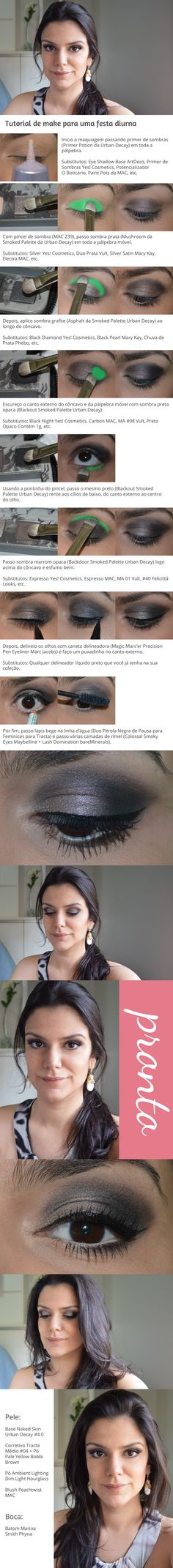 Tutorial: Make para festa diurna http://www.2beauty.com.br/blog/2014/07/18/tutorial-make-para-festa-diurna/ #tutorial #maquiagem