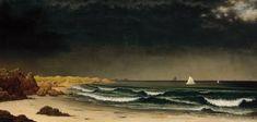 Approaching Storm: Beach near Newport - Martin Johnson Heade — Google Arts & Culture