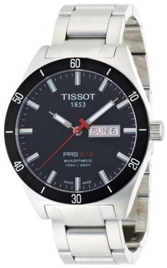 Men's Wrist Watches - Tissot Mens T0444302105100 PRS 516 Stainless Steel Watch >>> You can find out more details at the link of the image.