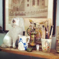 The Brighton studio of Ed Kluz, artist, designer, illustrator and printmaker