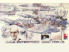 Wallpaper of Enterprise Schematic for fans of Star Trek-The Next Generation.
