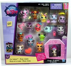 Littlest Pet Shop City Fashion 15 Pets Koala Moose Hippo Kitty Dolphin Dog Burro | eBay
