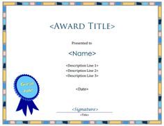 A blank certificate template without borders this template was a new blank certificate template with a great job award seal the title yadclub Image collections