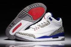 Authentic Cheap Air Jordan 3 Discount high quality white royal blue red shoe for Authentic Cheap Air Jordan retro 3 shoe Air Jordan 3, Air Jordan Retro, Air Jordan Shoes, New Jordans Shoes, Nike Shoes, Shoes Uk, Shoes 2017, Mens Red Shoes, Zapatos Nike Jordan