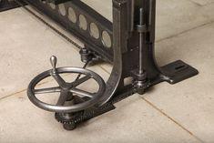 Vintage Industrial, Original Adjustable Dining Table/Desk Base image 9