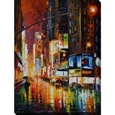 Leonid Afremov 'Times Square' Giclee Print Canvas Wall Art by…