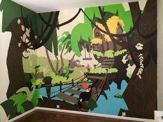 Aquarium, Wall Art, Custom Wallpaper, Acrylic Paintings, Mural Wall, Event Posters, Preschool, Bedroom, Goldfish Bowl