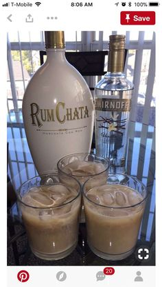 Delicious Christmas Cocktails Ready for a Crowd - rum chata with smirnoff Christmas cocktail - Rumchata Drinks, Rumchata Recipes, Liquor Drinks, Cocktail Drinks, Vodka Cocktails, Vanilla Vodka Drinks, Beverages, Vodka Martini, Eggnog Martini