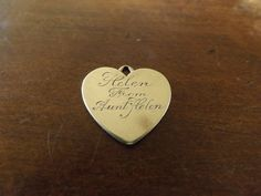 Antique Forstner GF Heart Charm_Monogram by GoldenBeeAntiques