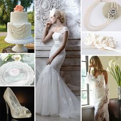 Pearls and lace wedding theme