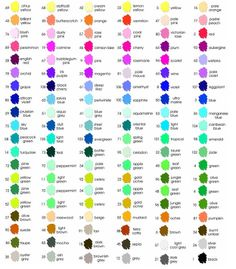 Apple Barrel craft paint chart http://www.asaba-indo.com/img/product/sub_stationery/marvy_color_chart.jpg