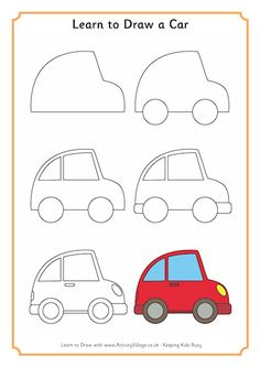 How To Draw A Car Kids Activities In 2019 Pinterest Art