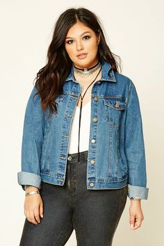 FOREVER 21+ Plus Size Denim Jacket
