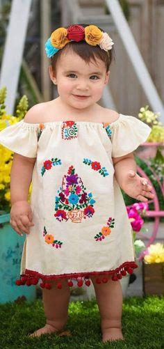 41de7e6860f2d Fiesta Dress, Fiesta Outfit, Mexican Outfit, Mexican Dresses, Mexican Baby  Dress,