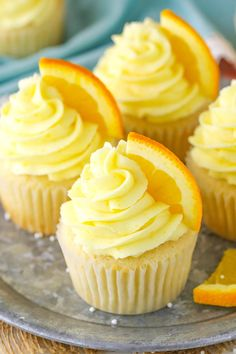 Orange Cream Cupcakes will take you back to your childhood! Made with orange cupcakes, frosting & vanilla cream filling! Such a delicious cupcake recipe! Oreo Cupcakes, Yummy Cupcakes, Cupcake Cakes, Orange Cupcakes, Orange Frosting, Strawberry Cupcakes, Gourmet Cupcakes, Lemon Cupcakes, Velvet Cupcakes