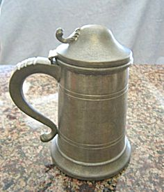 Vintage Boardman Colonial pewter tankard for sale at More Than McCoy at http://www.morethanmccoy.com