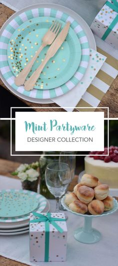 One of Our Best-Selling Collections; Mint To Be by Paper Eskimo. This Chic Look is Perfect for Baby Showers, Birthday Parties and Bridal Showers | PaperEskimo.com