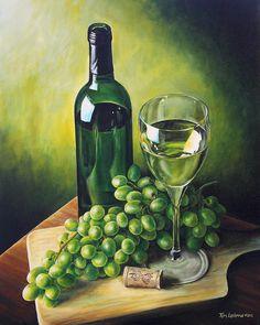 Grapes & Wine by Kim Lockman on Fine Art America ~ prints starting @ $22