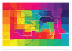 Tube Map by Kate Moross