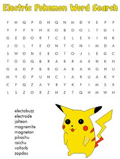 Modest image throughout pokemon word search printable