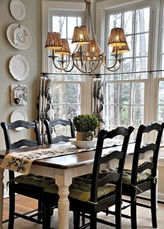 97 Marvelous French Country Dining Rooms Decoration Ideas Page 49 of 99 Country Dining Tables, French Country Dining Room, Farmhouse Dining Room Table, Dining Room Table Decor, French Country Kitchens, Dining Table Design, Dining Room Furniture, Country French, Farmhouse Chairs