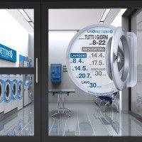 Coin Laundry Interior Design Lavagettone Studio Sano
