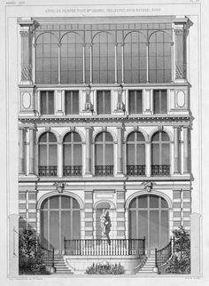 Elevation of the residence of the painter Cabanel, Paris