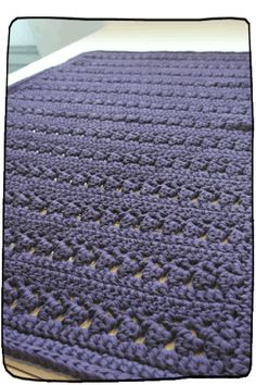 This Pin was discovered by Sus Crochet Carpet, Crochet Home, Irish Crochet, Easy Crochet, Knit Crochet, Crochet Rug Patterns, Crochet Stitches, Knit Rug, Herringbone Stitch