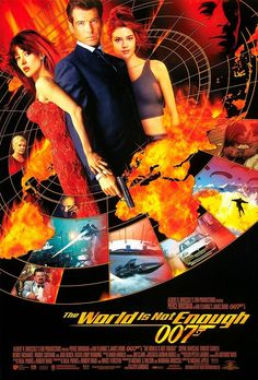 THE WORLD IS NOT ENOUGH - Pierce Brosnan as James Bond. Elektra King: I could have given you the world.James Bond: The world is not enough. James Bond Movie Posters, James Bond Movies, Film Posters, Casino Royale, Movie Props, Movie Tv, Tempo Music, Service Secret, Pierce Brosnan