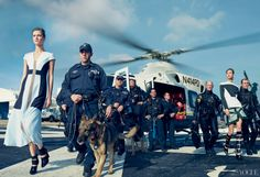 Annie Leibovitz  Vogue Honors Sandy First Responders with Controversial Photo Shoot