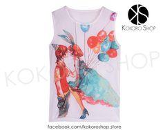 CAMISETAS CUTE (Modelos Globos) - REF: CM/003000 Síguenos en Instagram: @KokoroShopStore Para pedidos o consultas, contactar mediante Facebook:  https://www.facebook.com/kokoroshop.store/ Muchas Gracias  #moda #modamujer #camisetas #woman #girls #verano #summer #summertime #cute #lovely #shopping #tiendas #compras #chicas #outfit