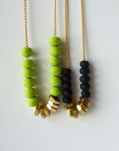 hex nuts and clay beads