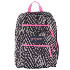 JanSport Big Student Classics Series Backpack  Grey Tar Wild At Heart * Details can be found by clicking on the image.