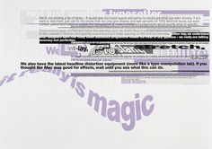8vo. Magic Computer Graphics Company, promotional poster, 1990. From 8vo On the Outside, Lars Müller, 2005