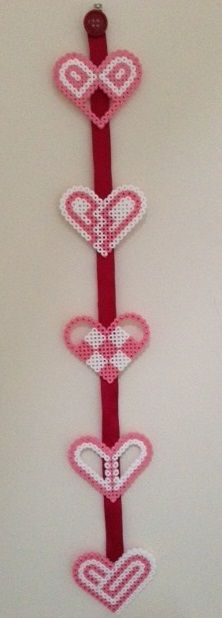 Hama Bead Hearts - Jennifer Jain