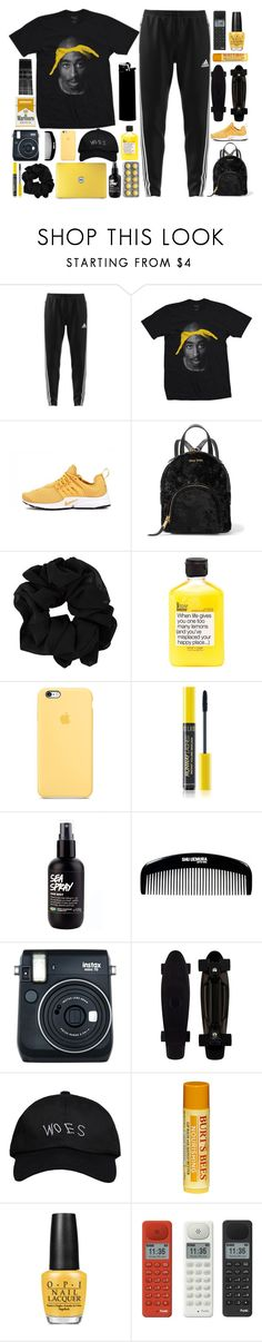 """""""i hope you're offended"""" by aniella400 ❤ liked on Polyvore featuring adidas, Presto, Miu Miu, shu uemura, Fuji, WALL, October's Very Own, Burt's Bees, OPI and Punkt."""