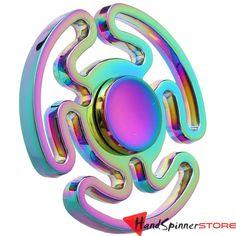 FS314 Rainbow Metal Fidget Spinner Tri-Spinner Hand Spinner Toy