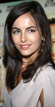 Camilla Belle Long Side Part - Camilla Belle was flawlessly coiffed with this face-framing, side-parted hairstyle at the premiere of 'The Dry Land.'
